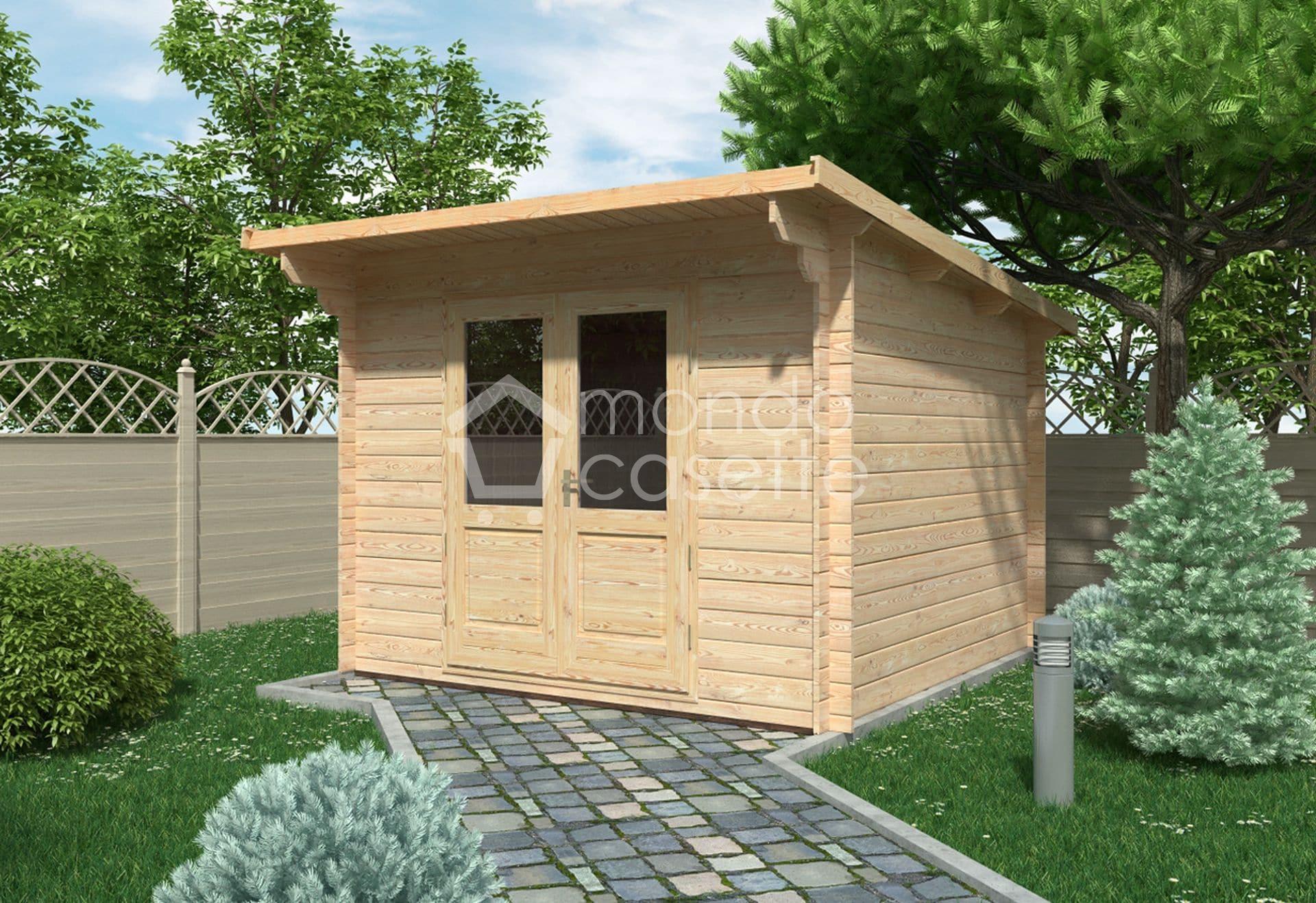 Casetta in legno Minija - 3x3 - pareti da 28 mm