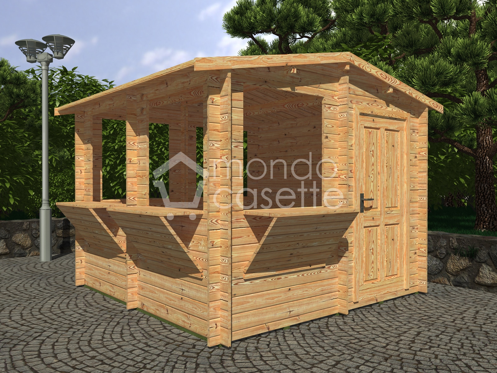 PRONTA CONSEGNA! - Casetta in legno Chiosco - 3x3 - pareti da 28 mm