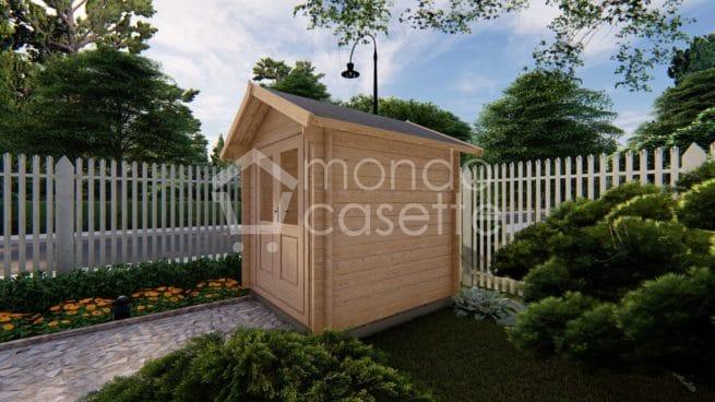 casetta in legno Bedford di profilo