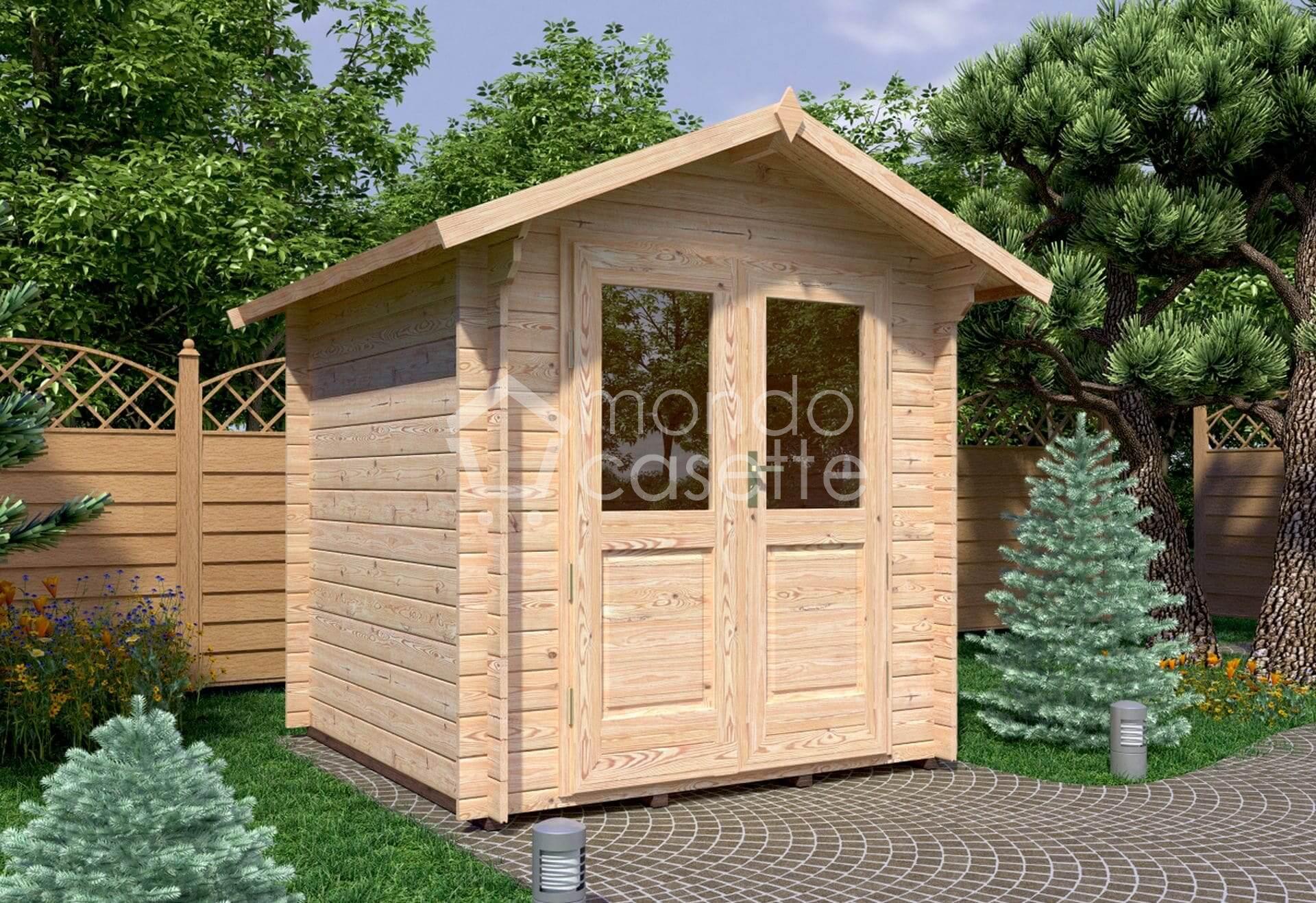 Casetta in legno Bedford/1 – 2,20x2,20 – pareti da 28 mm