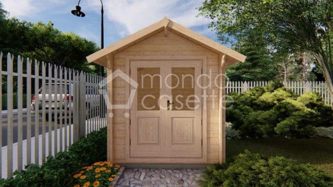 Casetta in legno Bedford visione frontale