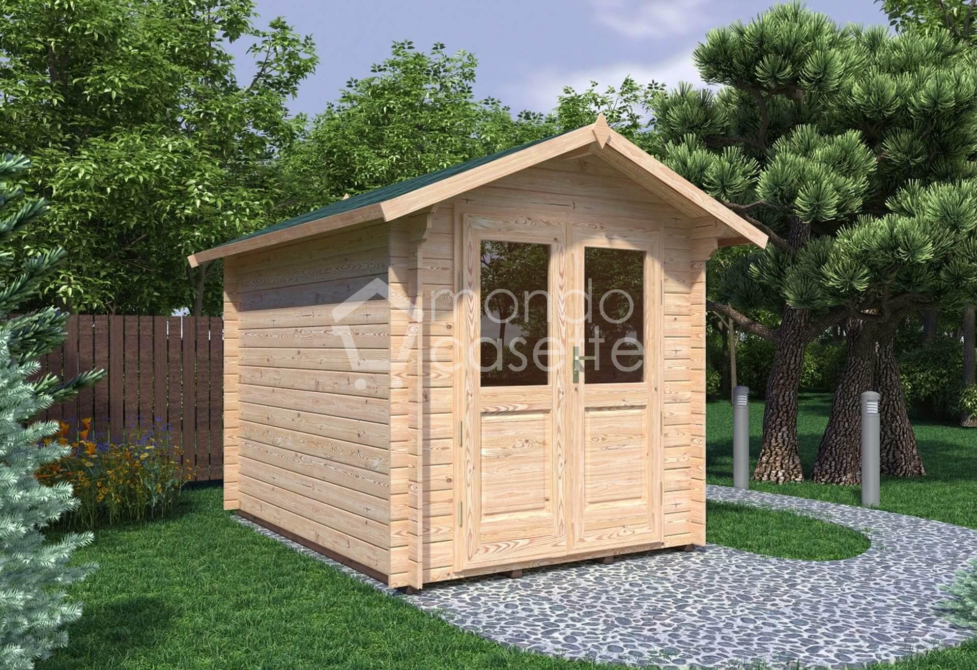 Casetta in legno Bedford/2 - 2,2x3 - pareti da 28 mm