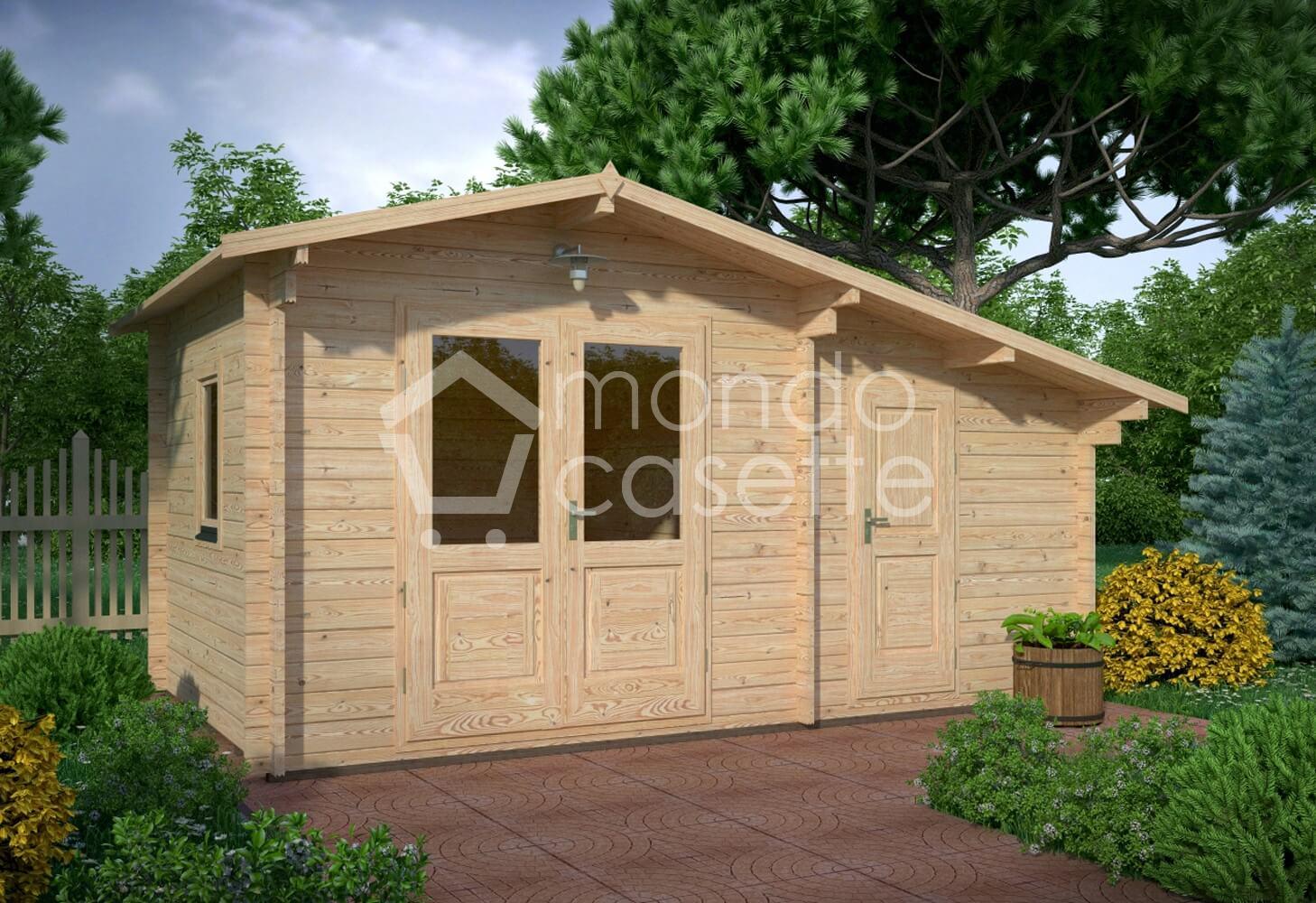 Casetta in legno Deco - 5x3 - pareti da 45 mm (2 vani)