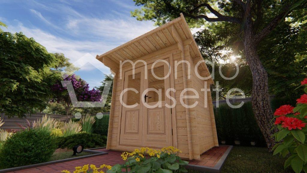 Casetta in legno Minija da giardino - 2x2