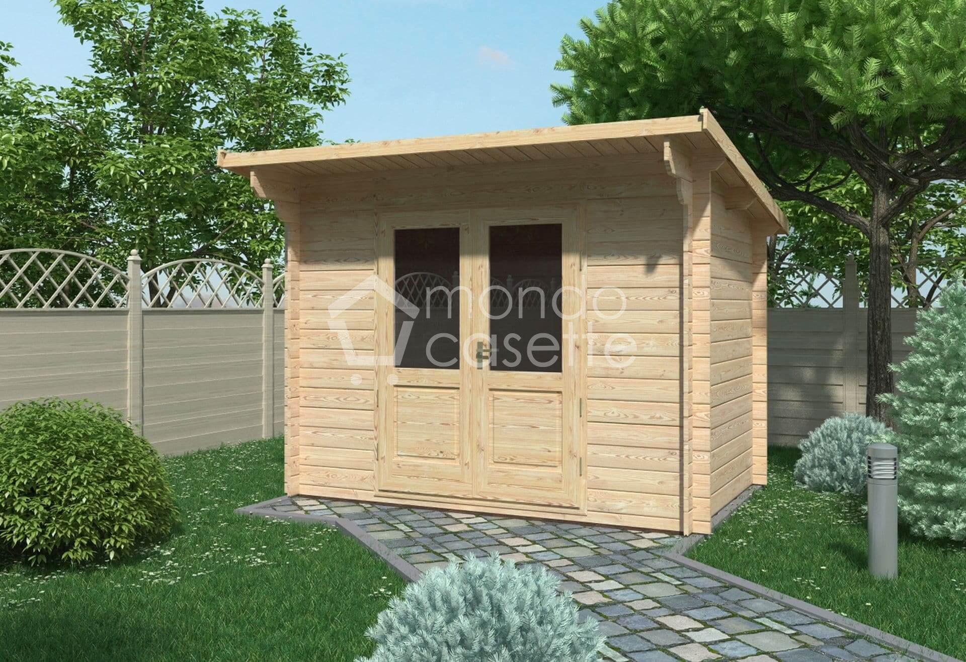 Casetta in legno Minija - 3x2 - pareti da 28 mm