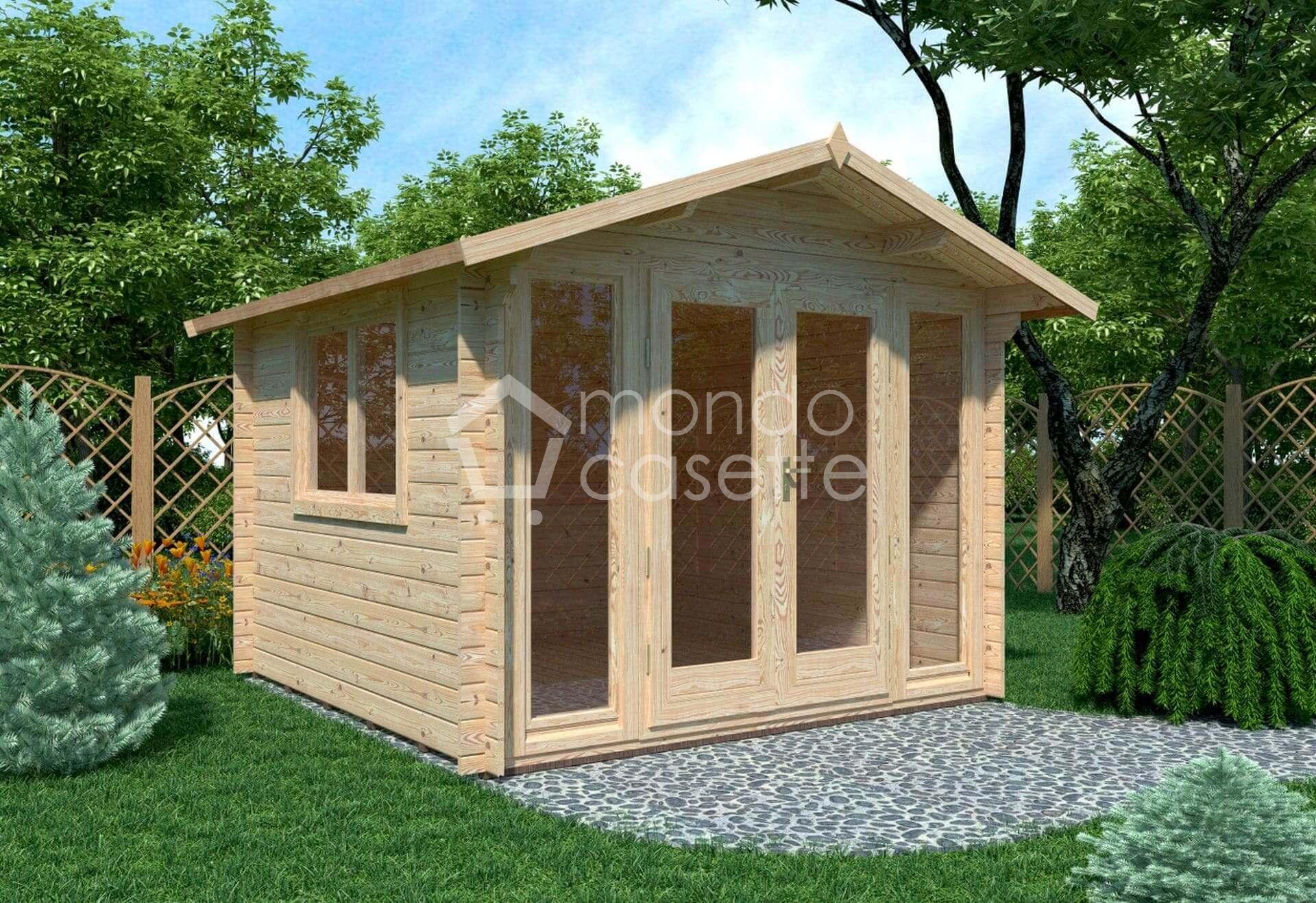 Casetta in legno Sicilia - 3x3 - pareti da 28 mm