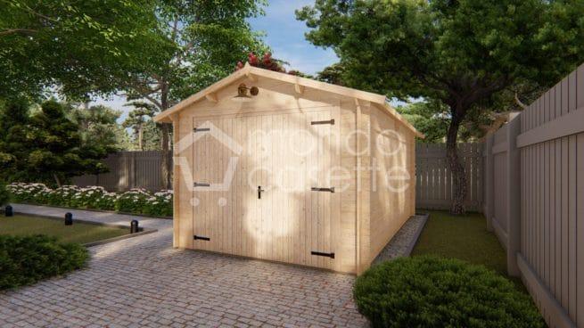 Garage Box in legno prefabbricato - 3,2x5,2
