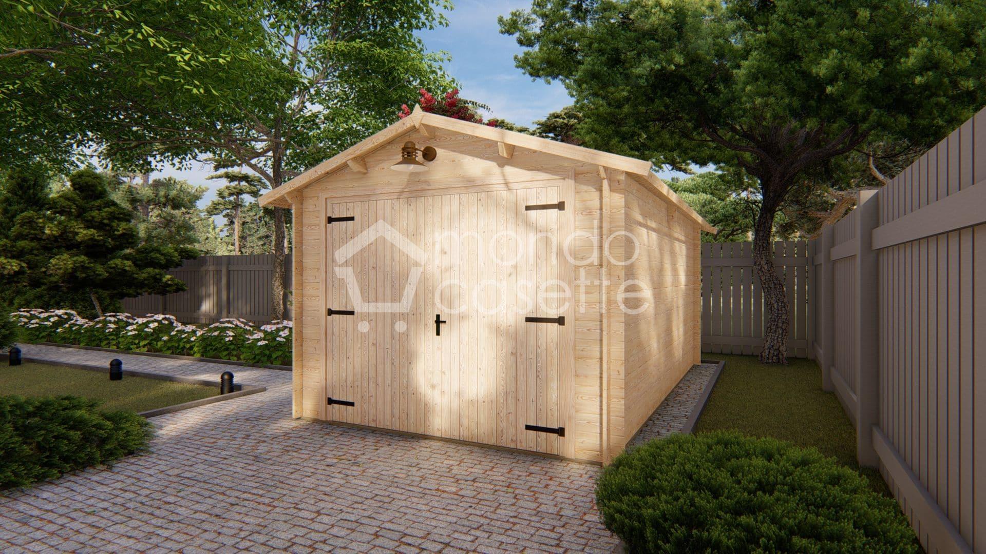 Garage Box in legno prefabbricato 320x520 cm - 28 mm