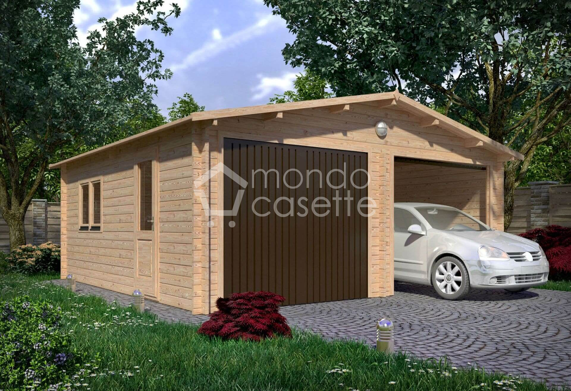 Garage in legno 6x6 per 3 o 2 posti auto