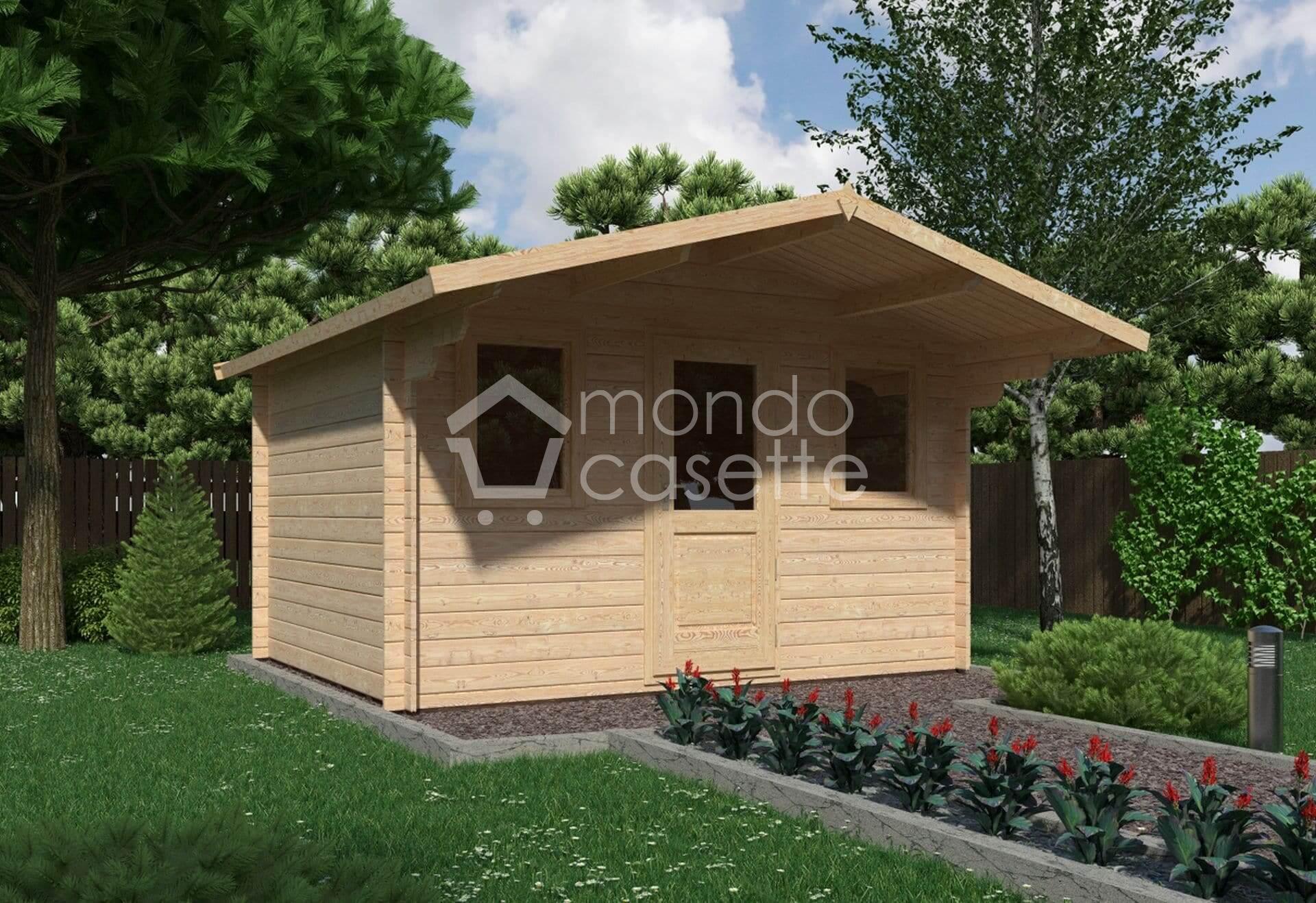 Casetta in legno Genova - 3,8x3 - pareti da 28 mm