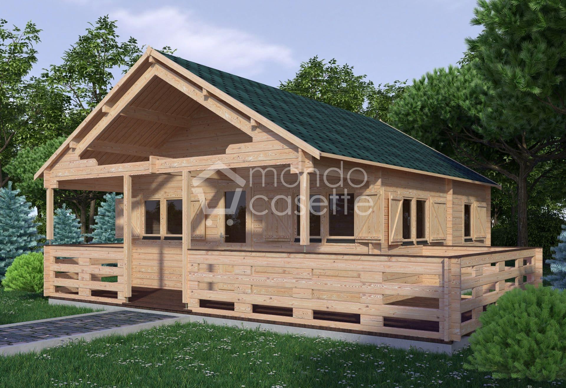 Casetta in legno mod. Asva - 6x6 - pareti da 45 mm