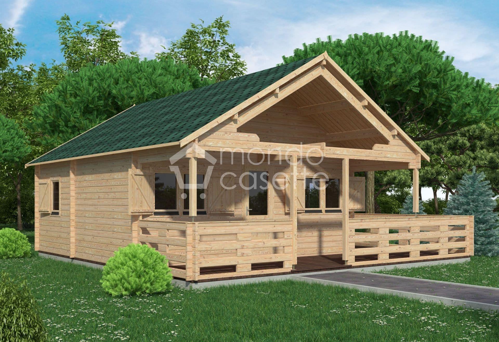 Bungalow in legno Asva - 6x6 - 32 mq e pareti da 70 mm