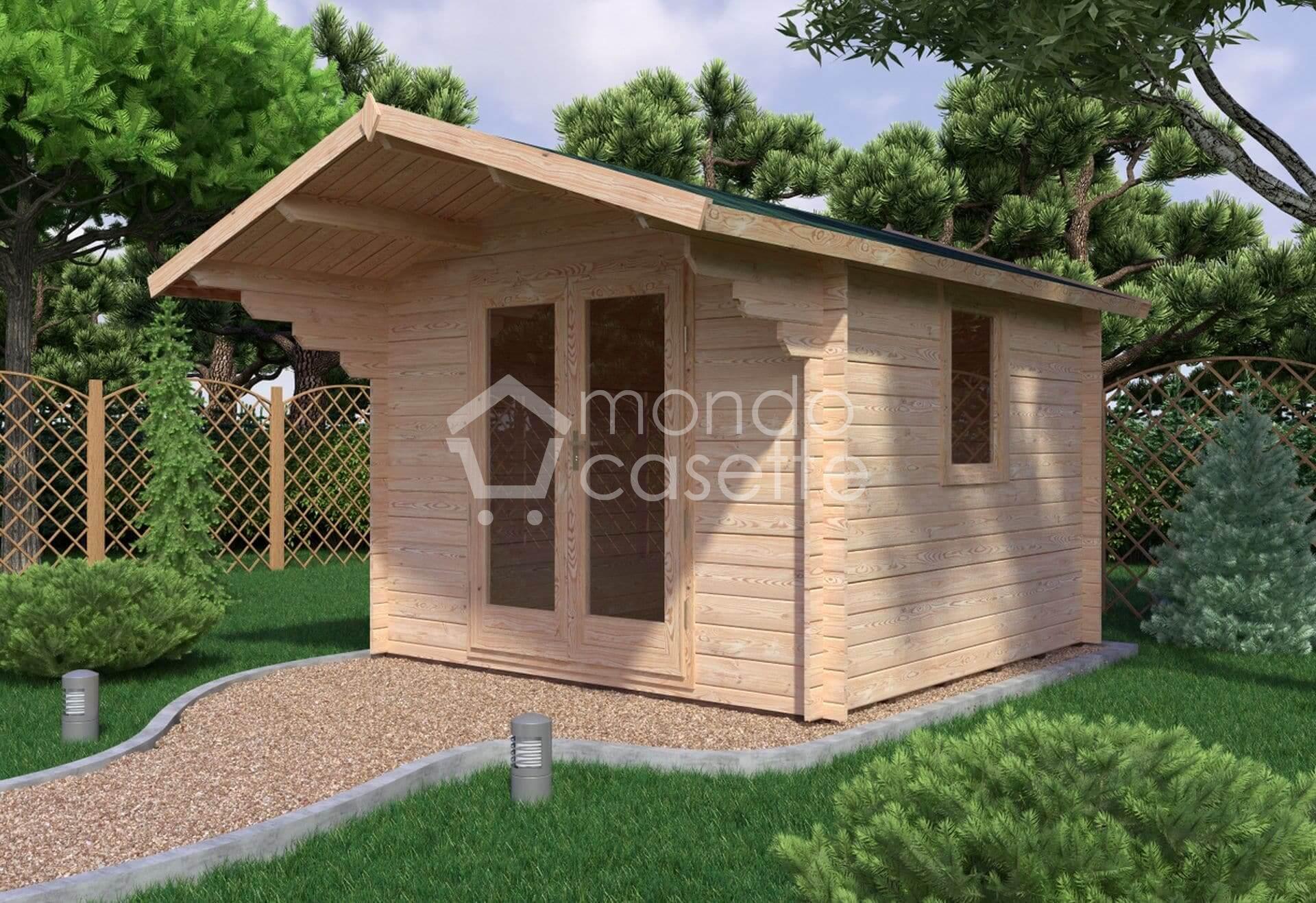 Casetta in legno Imperia - 3x3 -  pareti da 28 mm