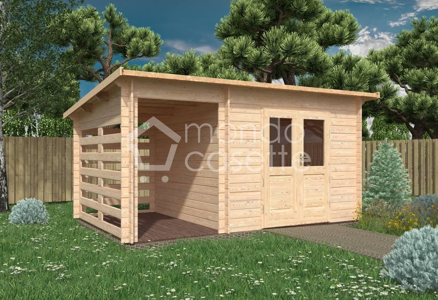 Casetta in legno Mila - 4,5x3 - pareti da 28 mm
