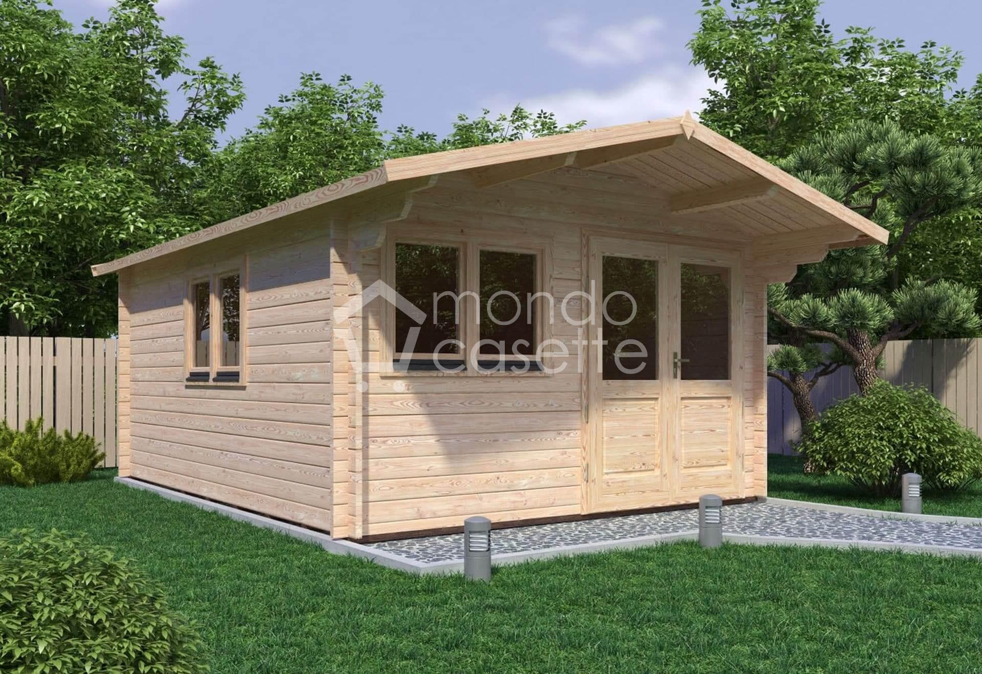Casetta in legno Venta - 4x5 - pareti da 45 mm