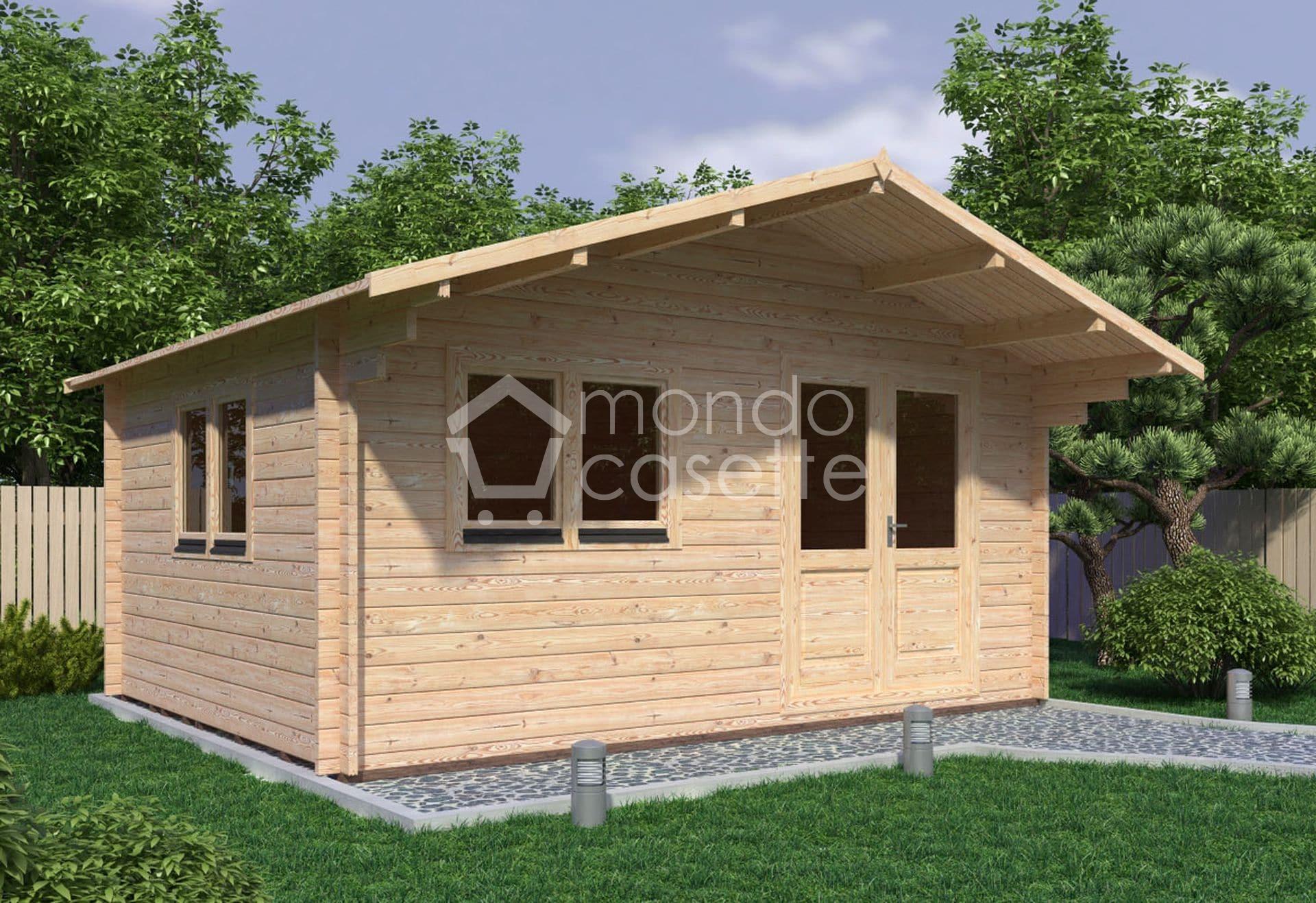 Casetta in legno Venta - 5x4 - con pareti 45 mm