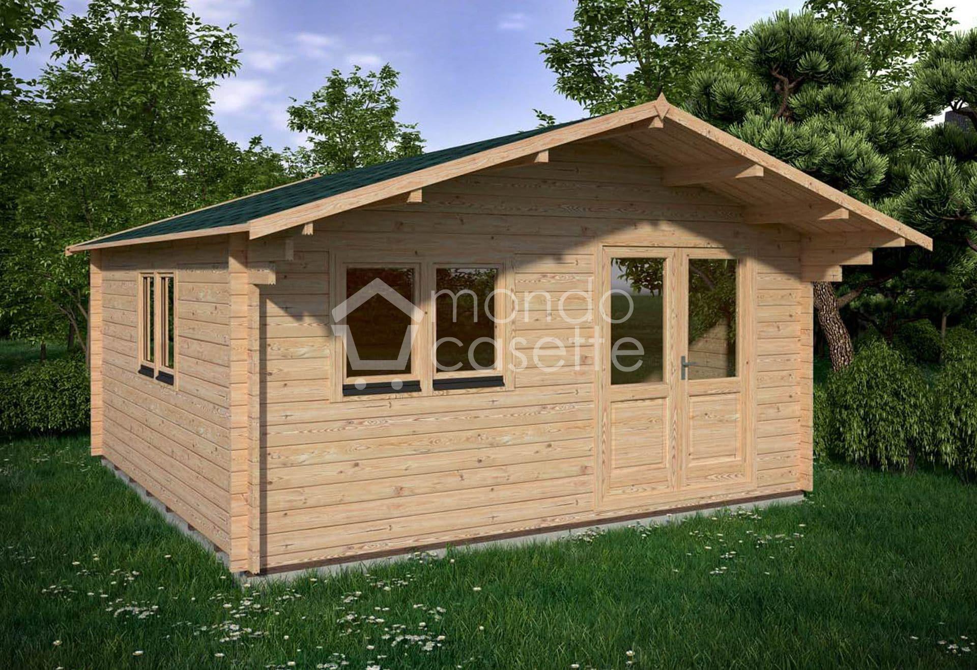 Casetta in legno Venta 5x5 - pareti da 45 mm