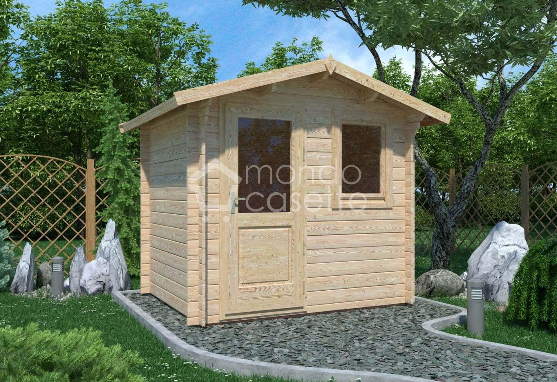 Casetta in legno Mantova - 250x200 - pareti da 28 mm