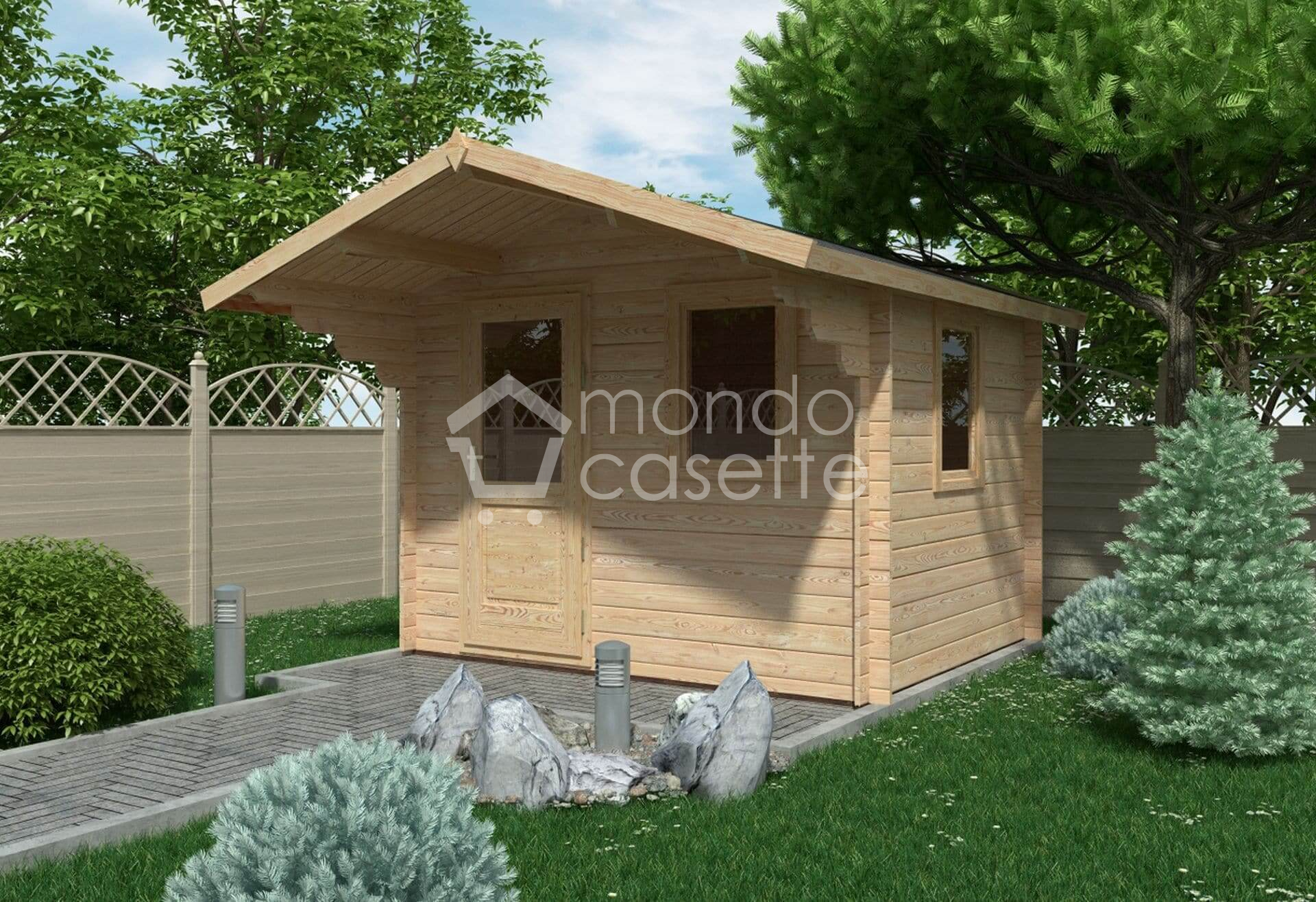 Casetta in legno Modena - 3x2,5 - pareti da 28 mm