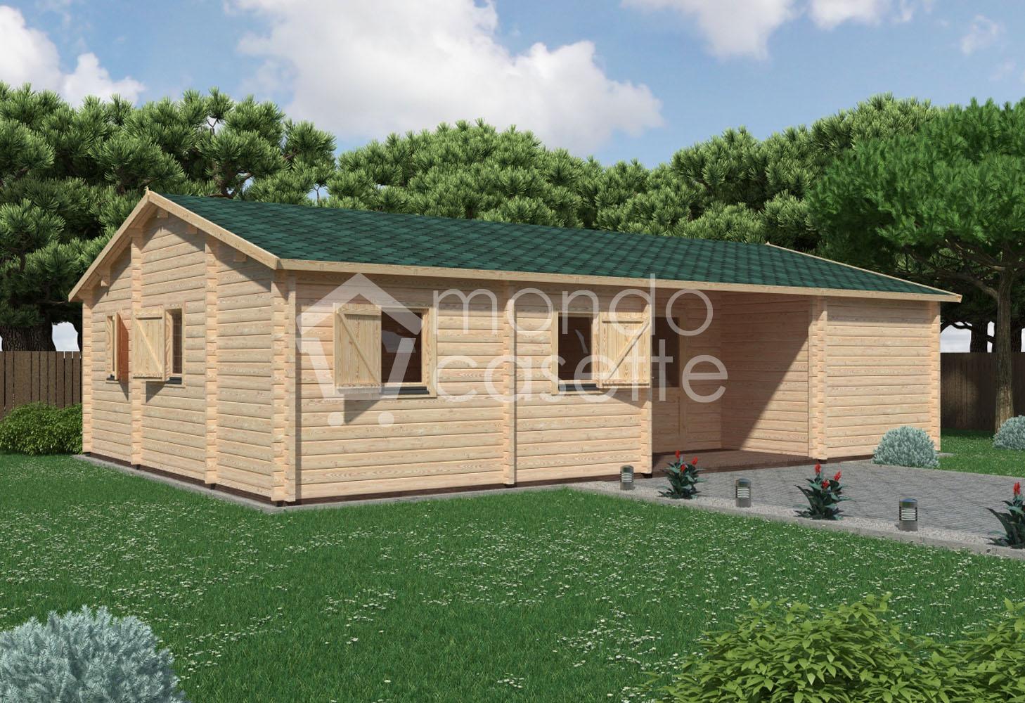 Casa di legno Pisa - 10,2×7 - pareti da 70 mm