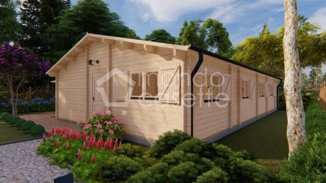 Bungalow in legno modello Sevilla - 13,5x7,6