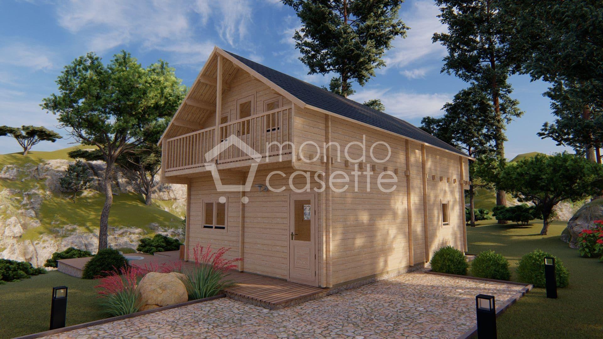 Chalet casa in legno Verona - 8,7×5,7 - pareti da 70 mm