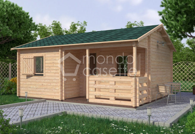 Bungalow casa in legno San - 6,1×4,7