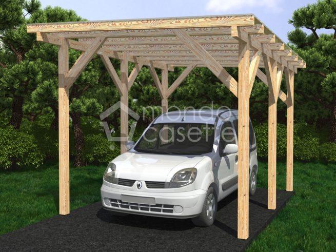 Casetta in legno Carport-1 - 3,6x5