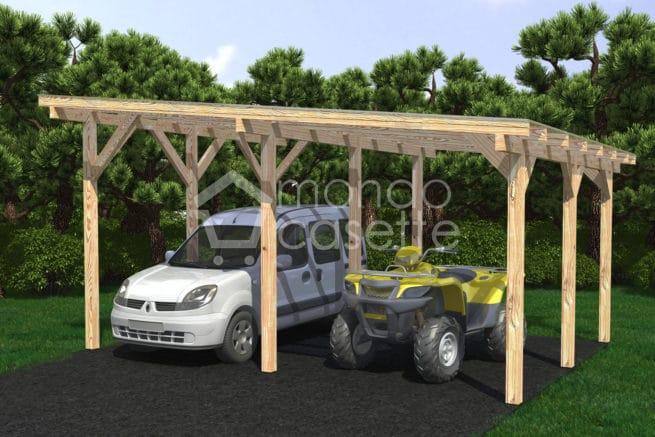 Casetta in legno Carport-2 - 6x5
