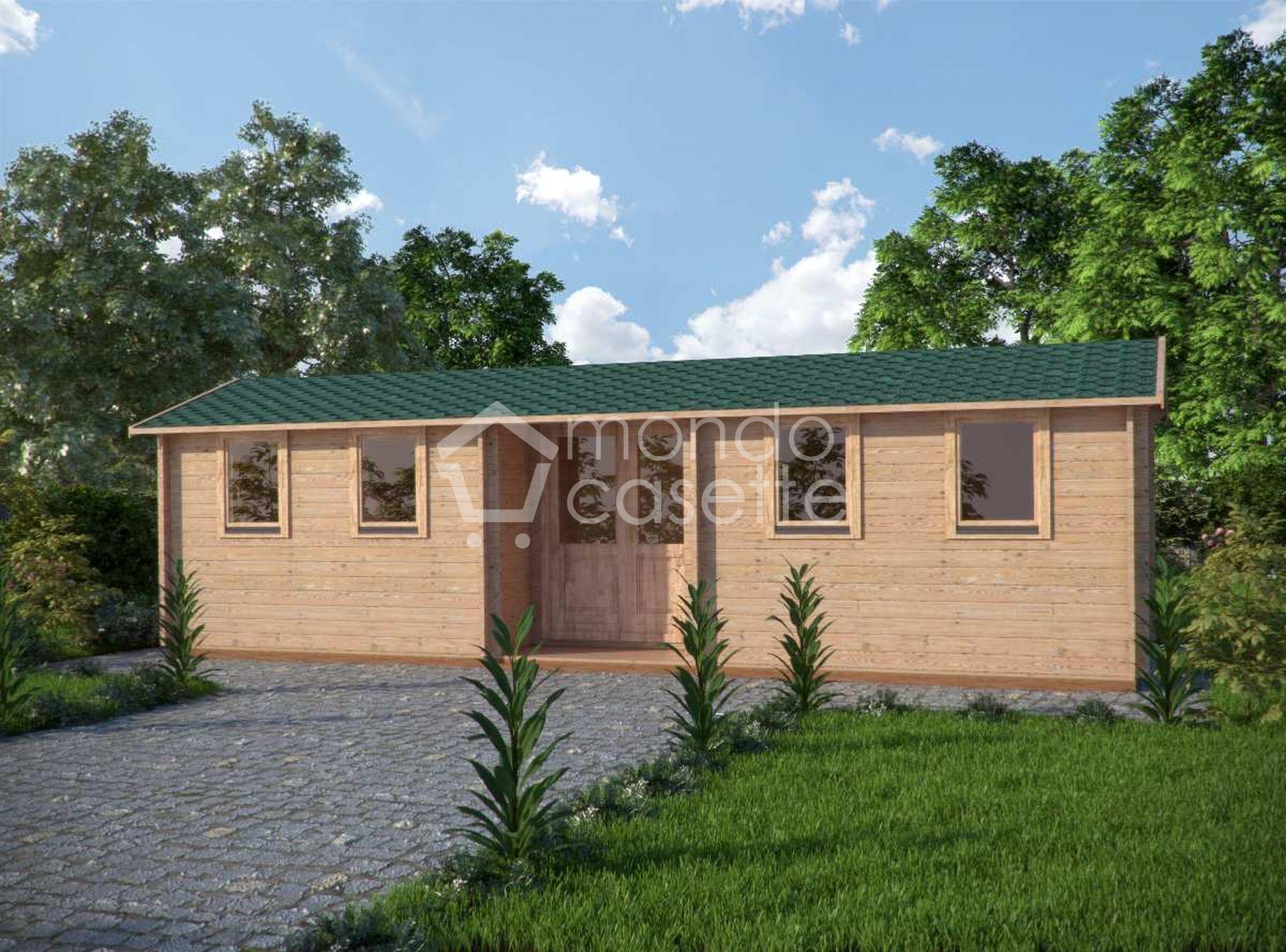 Casetta in legno Helmand - 3x9 - pareti da 45 mm