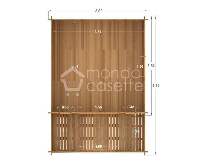 casetta di legno Milano pianta