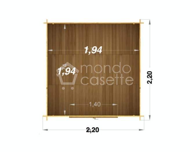 casetta in legno Minija pianta