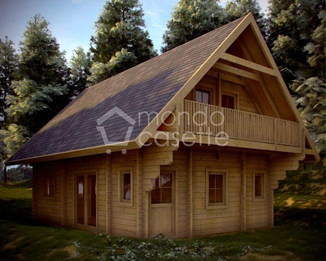 Chalet in legno Monviso - 6,40×9