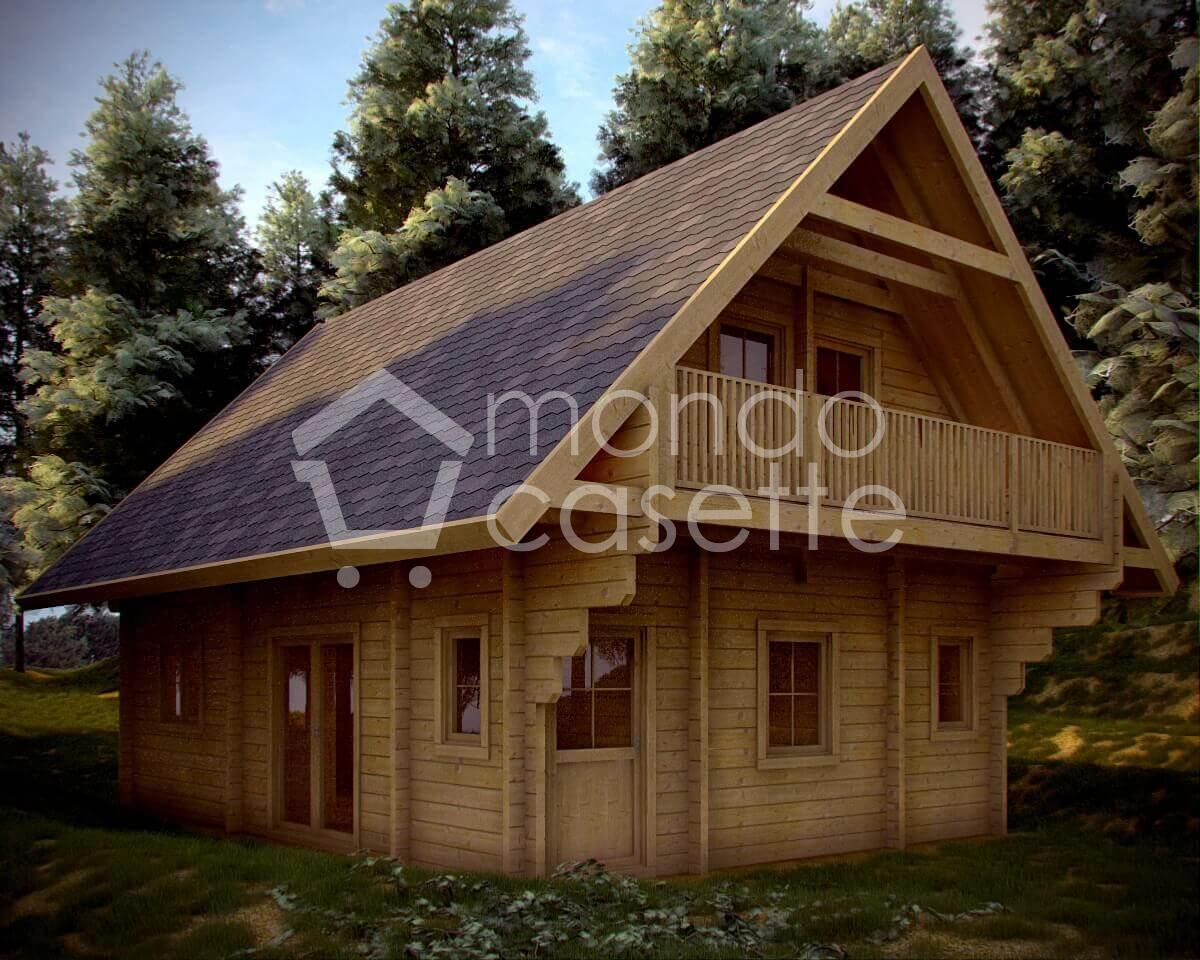 Chalet in legno Monviso - 6,40×9 - pareti da 90 mm