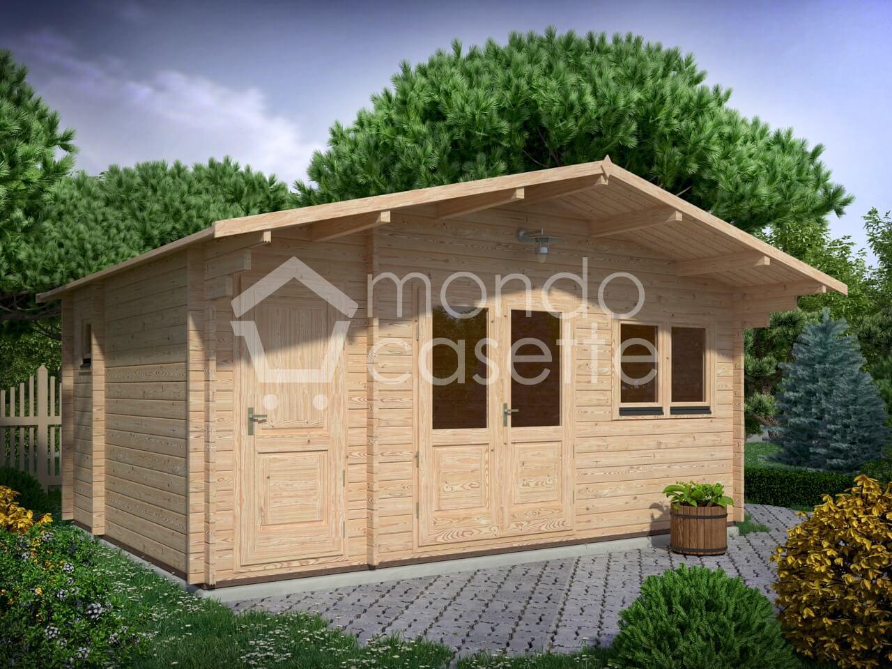Casetta in legno Vicenza - 5,6x4 - pareti da 45 mm