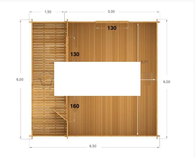casa in legno Venta pianta