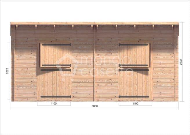 box cavalli di legno Siena 1 fronte