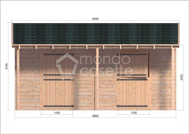 box cavalli in legno Siena 2 fronte