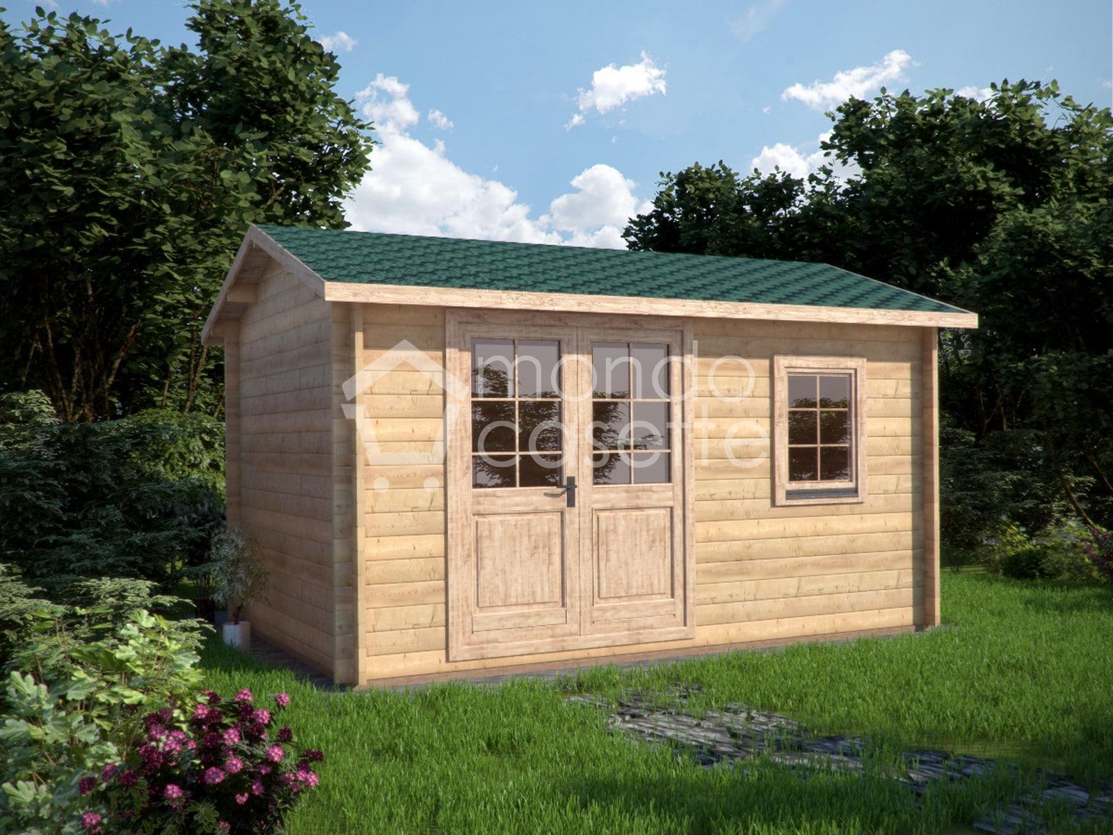 Casetta in legno Ula - 4,5x2,5 - pareti da 45 mm