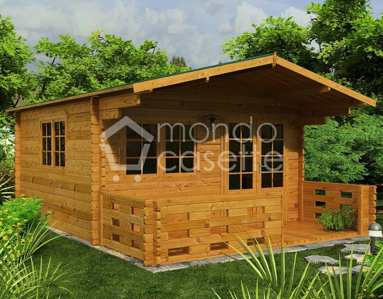 Casetta in legno Venta - 4x3 - pareti da 45 mm