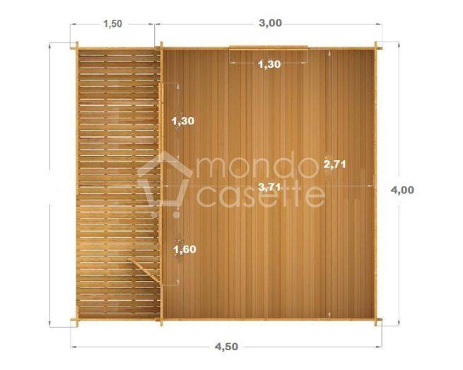casetta di legno Venta pianta