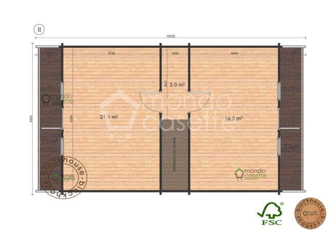 primo piano chalet in legno Verona