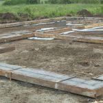 basamento d'appoggio per le casette prefabbricate in legno