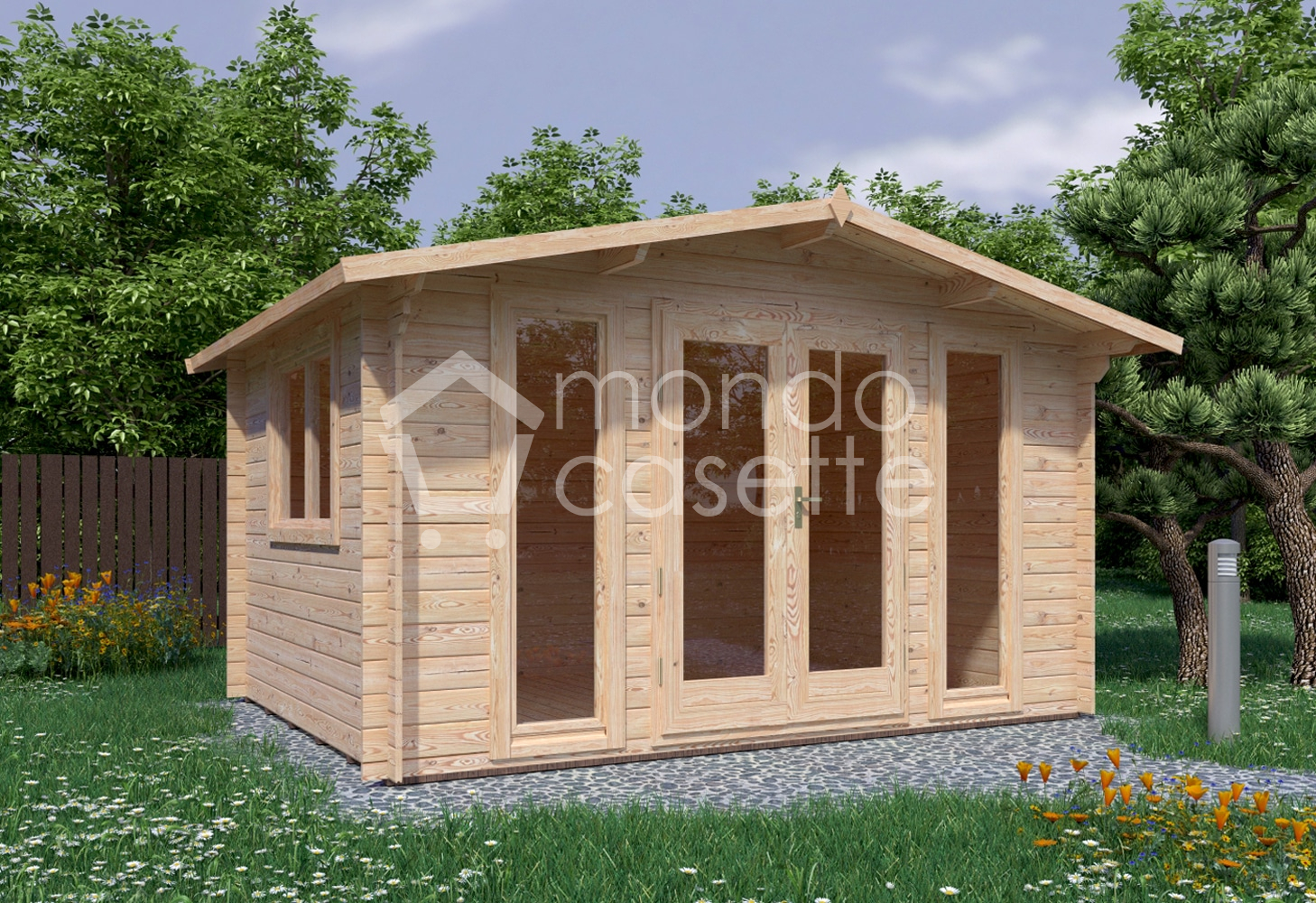 Casetta in legno Sicilia – 4×3 – 10mq e pareti da 28 mm