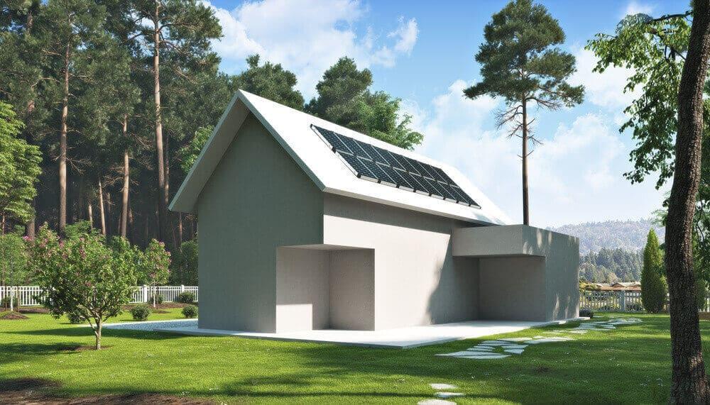 casa off grid in legno