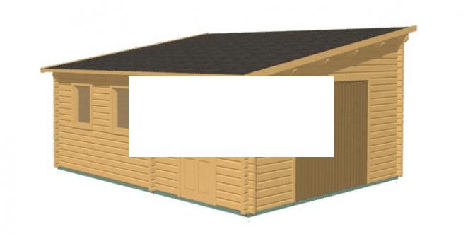 Garage in legno 6x5 68mm