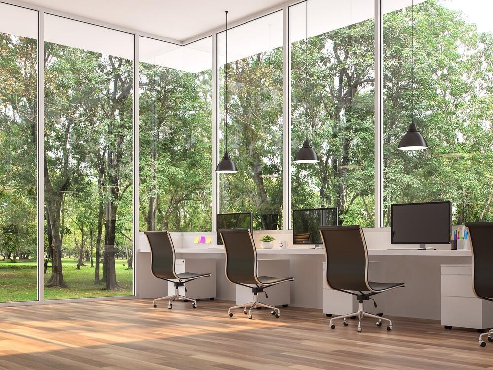 ufficio in giardino